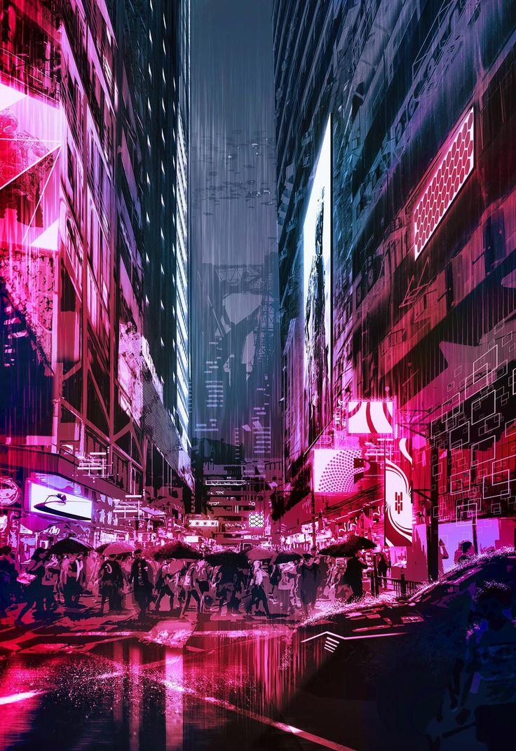 Cyber city by rashedjrs Cyberpunk city, Anime city