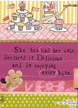 Curly Girl: Girls Cards, Bye Cards, Curly Girls Design, Paper Gifts, Tea Cupcakes, Sweet Treats, Bites Cards, Teas Cupcakes, Cupcakes Parties