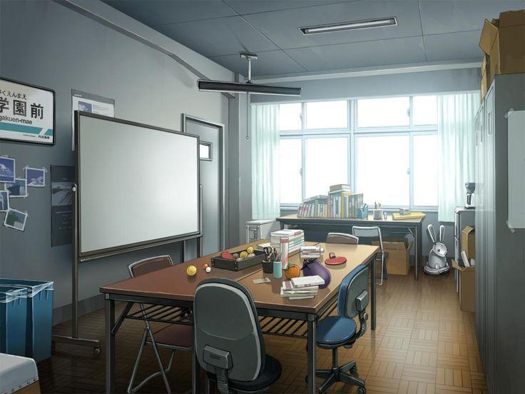 Anime office scenery