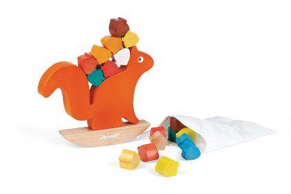 Ein Eichhörnchen mit Nüssen, Balancierspiel für Kleinkinder von Jankt
