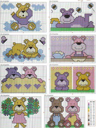 Schema punto croce Baby3