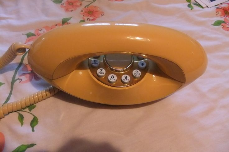 Classic Genie Touchtone  Phone in Peach by ThriftyMidge on Etsy