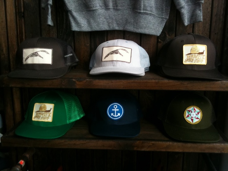 Hat collection from Mollusk surf shop, Venice