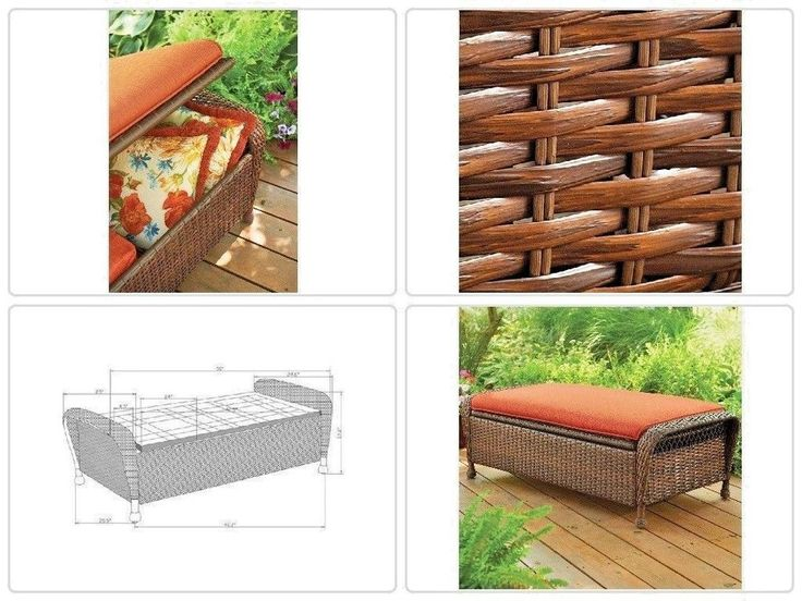 #Outdoor Ridge #Storage #Ottoman #Garden #Patio #Wicker All Weather Steel #Furniture