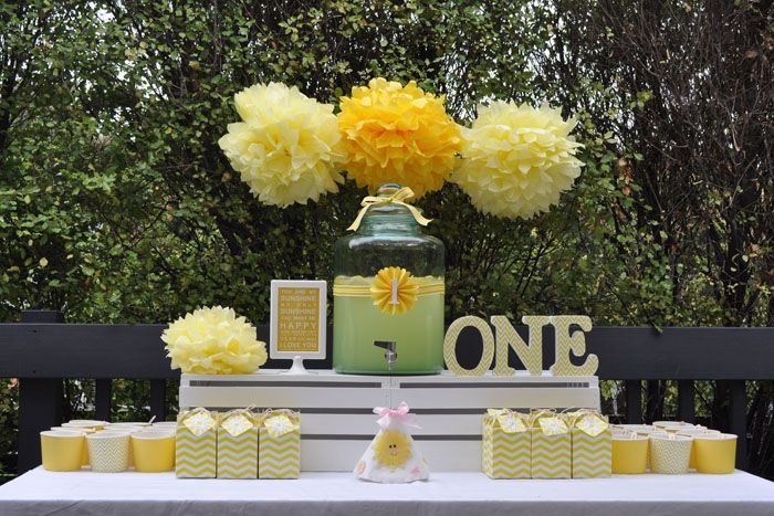 You are my sunshine party... Lots of yellow but still cute