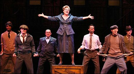 Debra Monk and company begin performances in Curtains