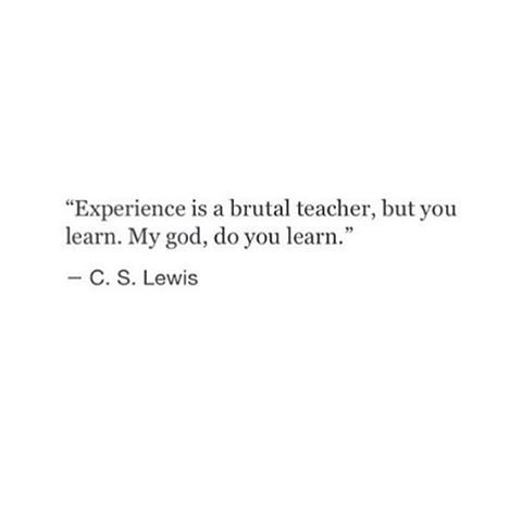 .. and will continue to learn!