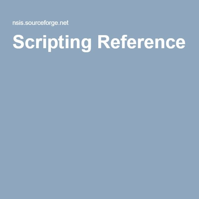 Scripting Reference