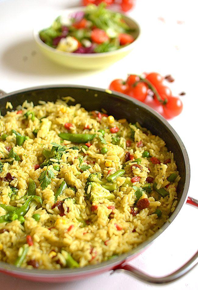 """Ryż z warzywami - lekki, zdrowy i bardzo kolorowy (zimą """"fit"""")"""