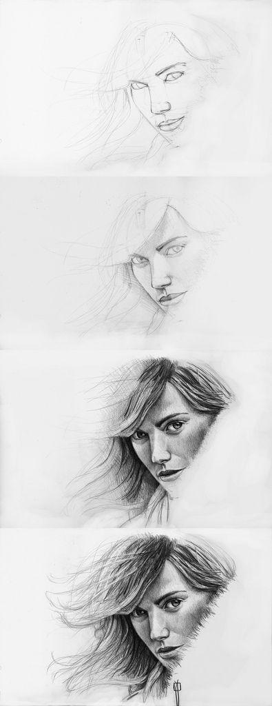 procesos de dibujo: drawing proccess / dibujo: proceso