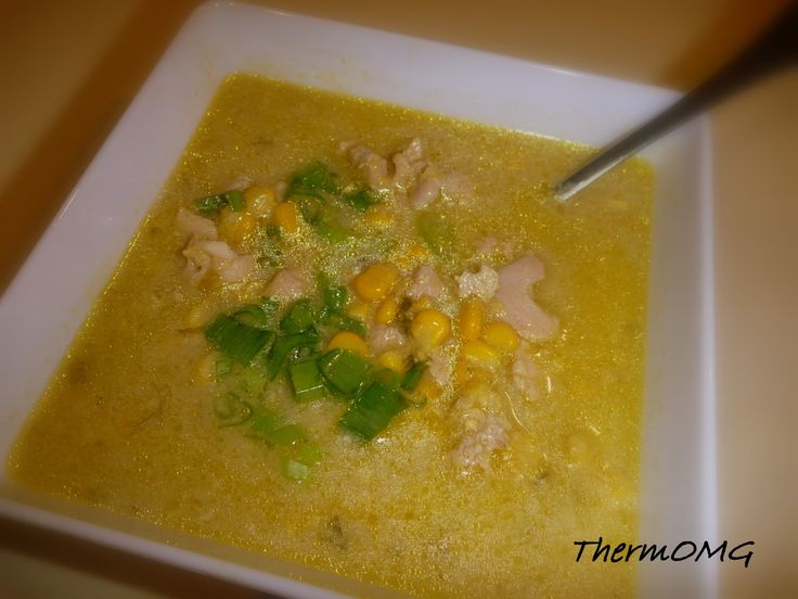 Sweet Corn, Chicken and Cashew Soup