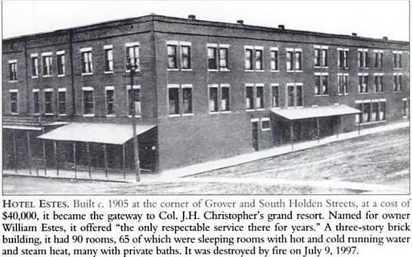 Johnson County & Warrensburg Mo History: 1908 Warrensburg Missouri History, Chief of Police and Deputy Gunned Down in the Hotel Estes, South Holden Street