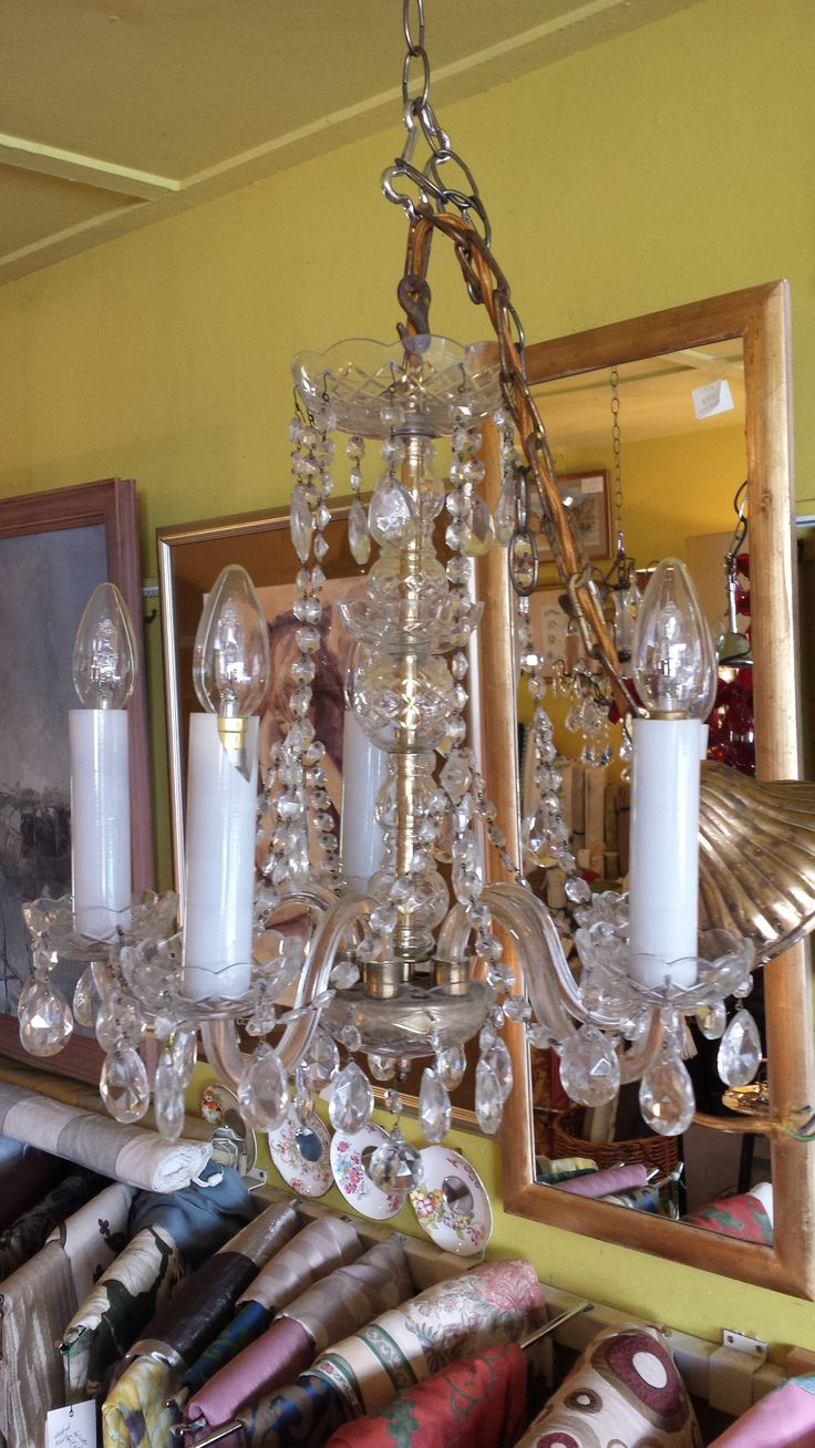 What a Beauty. A stunning Chandelier holding five bulbs and measuring approximately 40cms in diameter. So pretty.