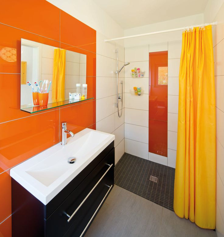 Die besten 25+ Orange badezimmer Ideen auf Pinterest oranges - sch ne badezimmer bilder