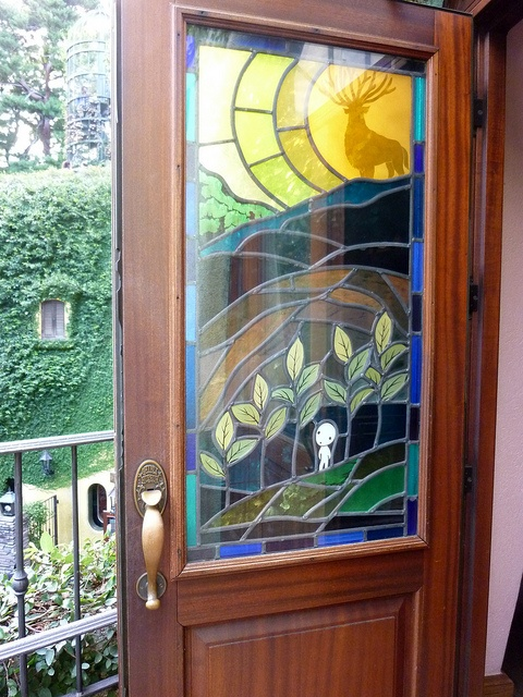 Studio Ghibli Museum Mitaka Japan... I want in my house one of these for the front door.