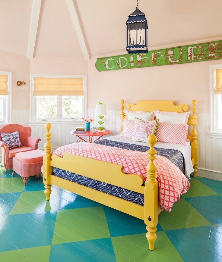colorful bedroom by Alison Kandler