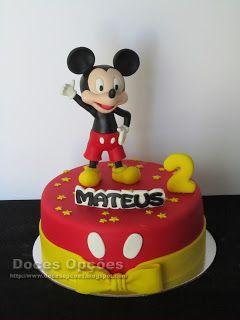 Doces Opções: O Mickey no 2º aniversário do Mateus