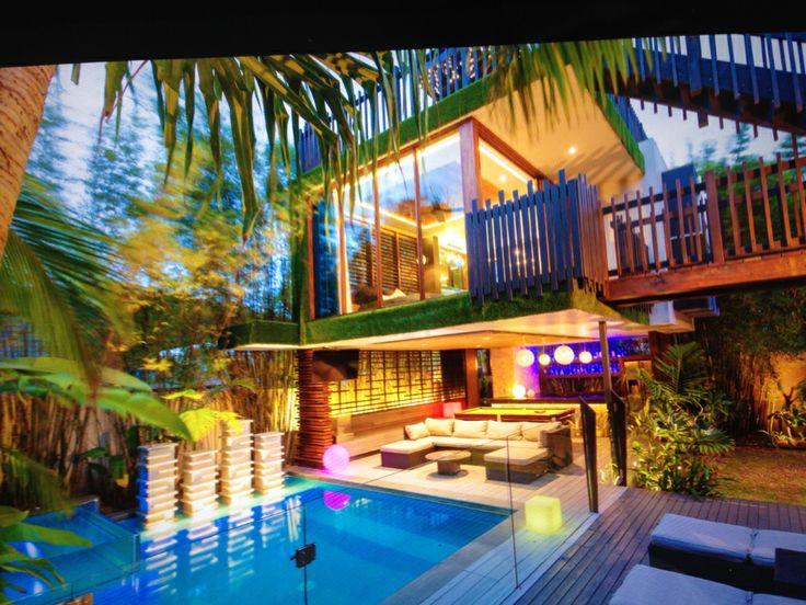 Chris Clout Design: Chris Clout Design Outdoor Pavilion Bar Pool Spa BBQ