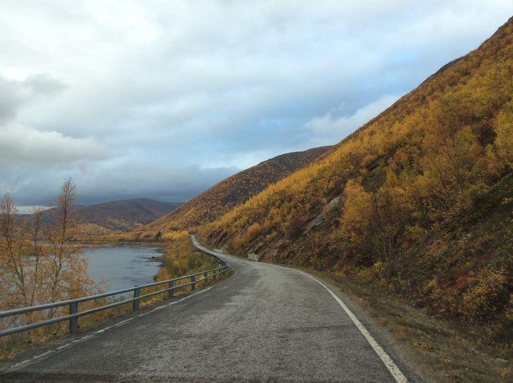 On the road to Utsjoki, Finland