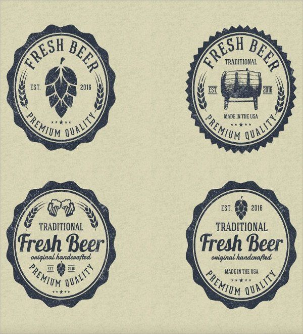 Beer Label Template Free 20 Label Template Psd Vector Eps In 2020