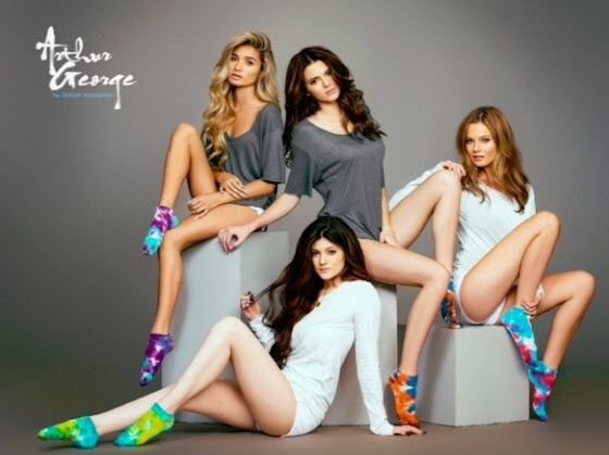 Kendall and Kylie Jenner featured in more Arthur George sock photos
