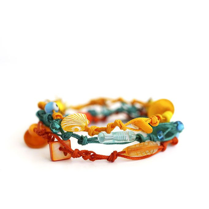"""Colorful summer bracelet"" Anna Spathari"
