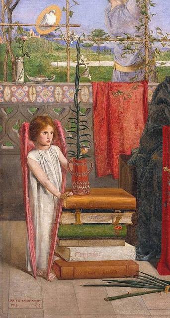 Dante Gabriel Rossetti 'The Girlhood of Mary Virgin' (detail of angel) 1848-9 by Plum leaves (in), via Flickr: