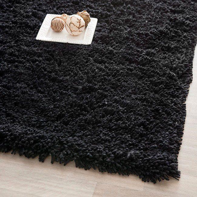 Safavieh Classic Ultra Handmade Black Shag Rug (9'6 x 13'6), Size 10' x 14'