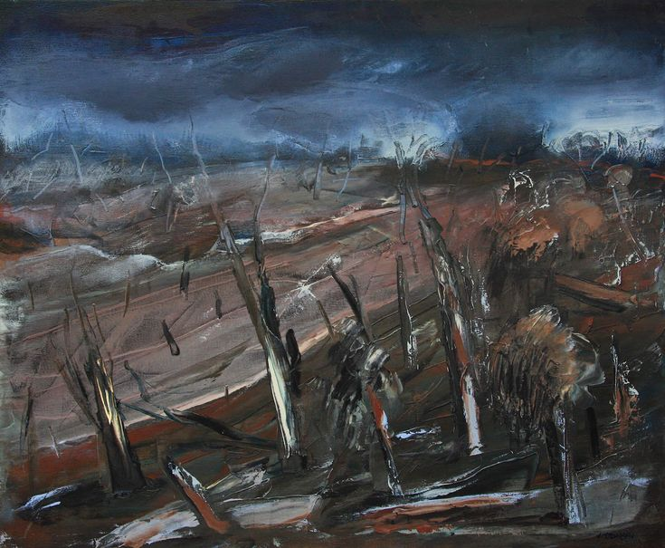 After the Fire by John Hodgman. 2014. Oil on canvas (framed). 76 x 86cm. $2000 (or $167 per month interest free with COLLECT).