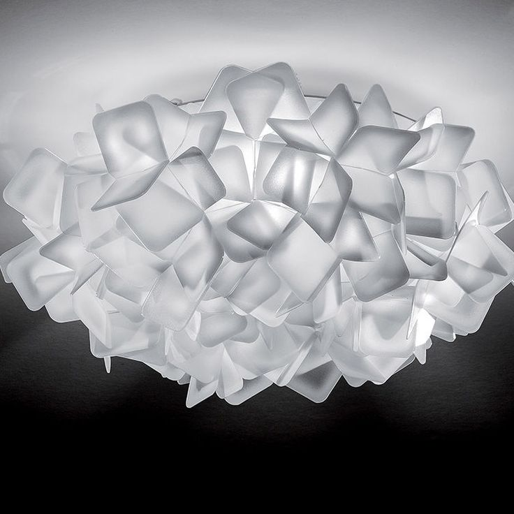 Clizia Mini Ceiling Flush/Wall Mount features numerous squares of Opalflex clustered into an intricate weave of texture and style in White, Black, Orange, Purple or Fume finishes. Product is Magnetic, allowing easy removal for cleaning. One 11 watt, 120 volt Candelabra base Fluorescent bulb is required, but not included. 12.6 inch width x 5.1 inch height.