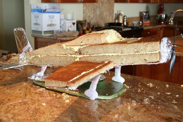 airplane cake tutorial