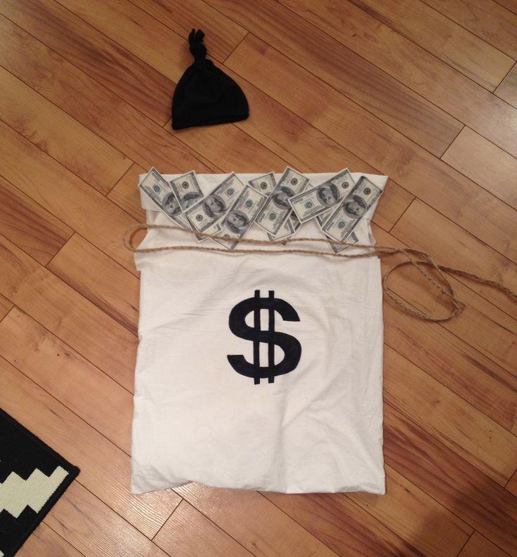 Halloween costume: money bag