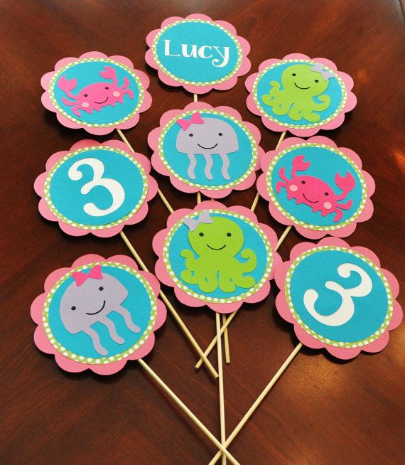 Girly Under the Sea Birthday Party Decorations Centerpiece