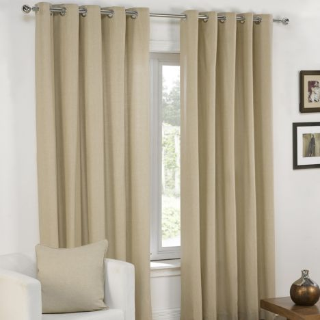 Plain | Cream | Lined | Eyelet | Curtains | Tony's Textiles | Tonys Textiles