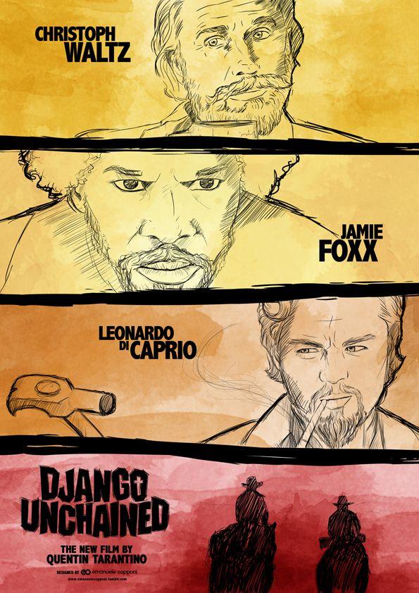 Django Unchained [Quentin Tarantino, 2012] «Author: Emanuele Capponi Via: Behance»