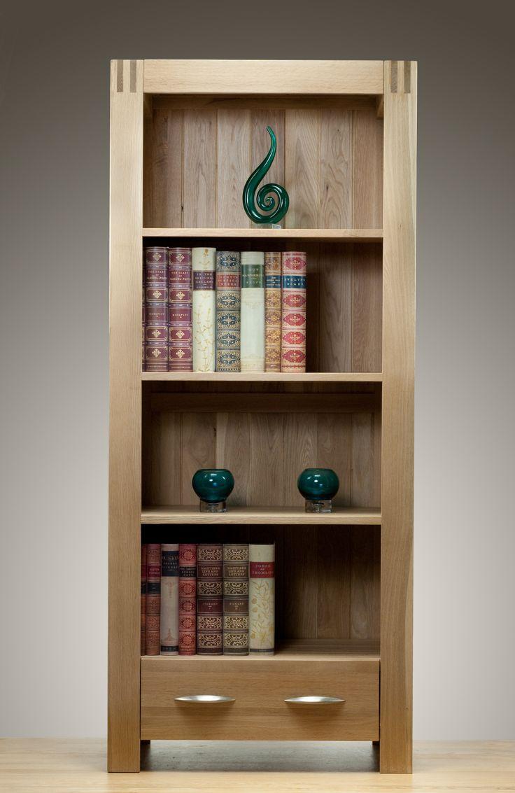Alto Solid Oak - Bookcase- Oak Furniture Land www.oakfurnitureland.co.uk