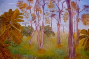 "Saatchi Art Artist C J Lewis; Painting, ""Ghost Gums"" #art"