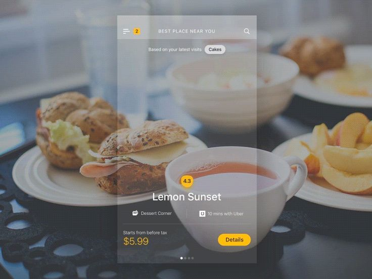 Cafe Venue and Detail Concept   iOS Apps