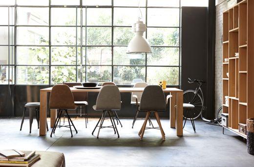 Wonen in een loft: licht hout en stakke lijnen #loft #interieur #hetkabinet #wonen