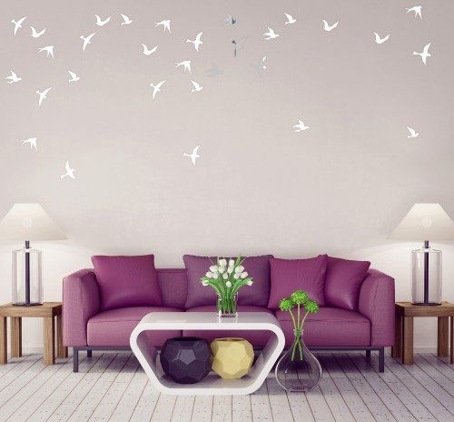 Moderné interiérové zrkadlá s motívom vtákov