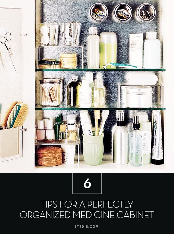 The most organized, clutter-free medicine cabinet of your life is just 6 steps away. // #Tips #HowTo