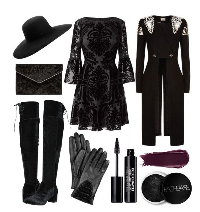 """""""outfit"""" by kwharmony on Polyvore featuring Eliza J, Maison Michel, Temperley London, MICHAEL Michael Kors, Rebecca Minkoff, Charter Club, Edward Bess and FaceBase"""