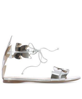 104cf8df859ca3 FRANCESCO RUSSO FRANCESCO RUSSO WOMEN S SILVER LEATHER SANDALS.   francescorusso  shoes