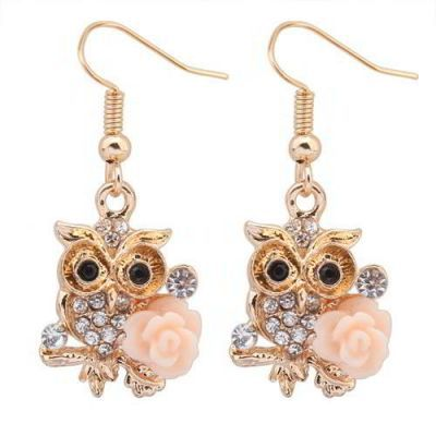 Diamond Flower Decorated Owl Shape Design Light Pink. Fashionable with passion REPIN if you like it.😍 Only 20.5 IDR