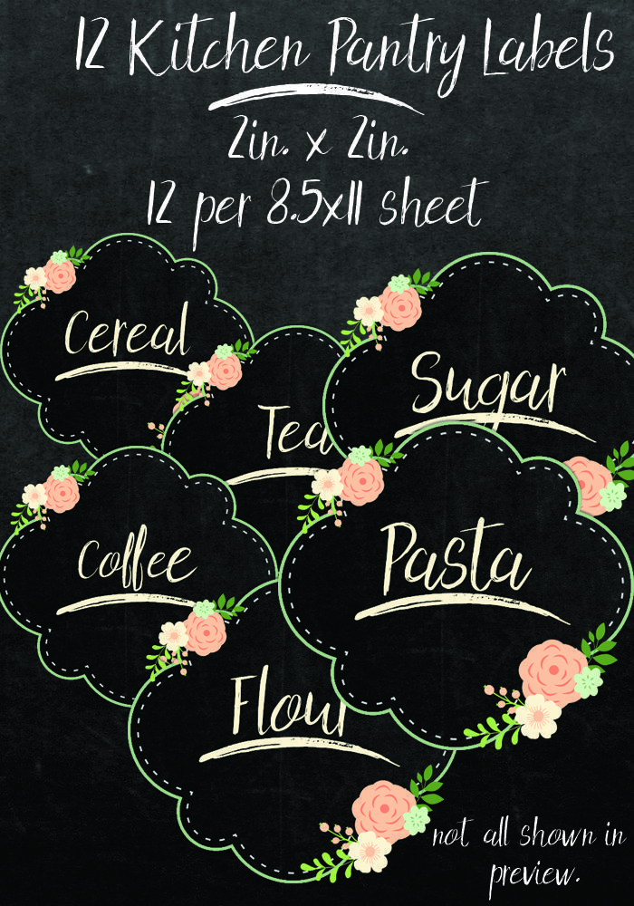 Printable Labels for Your Kitchen Jars Organizing Pinterest