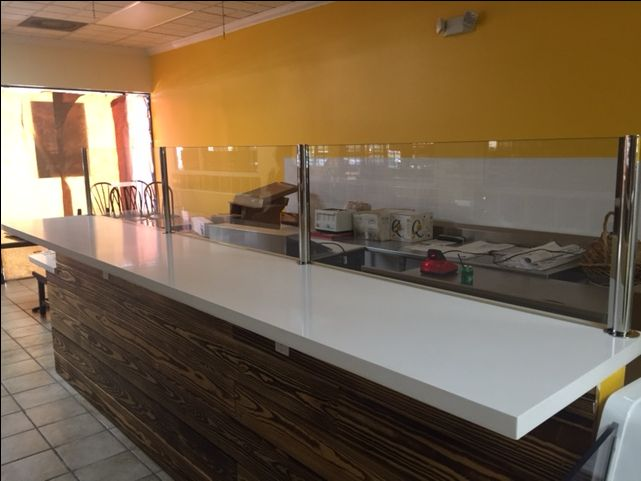 Sneeze Guard By Glass Doctor Of Miami Restaurant Interior Design Restaurant Interior Sneeze Guard