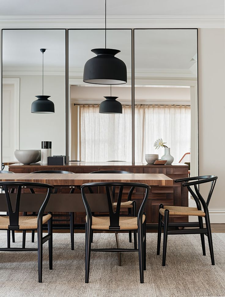 Wishbone Chairs. Dining Room ...