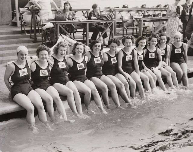British Women's Olympic swimming team, London, 1948. by National Media Museum, via Flickr