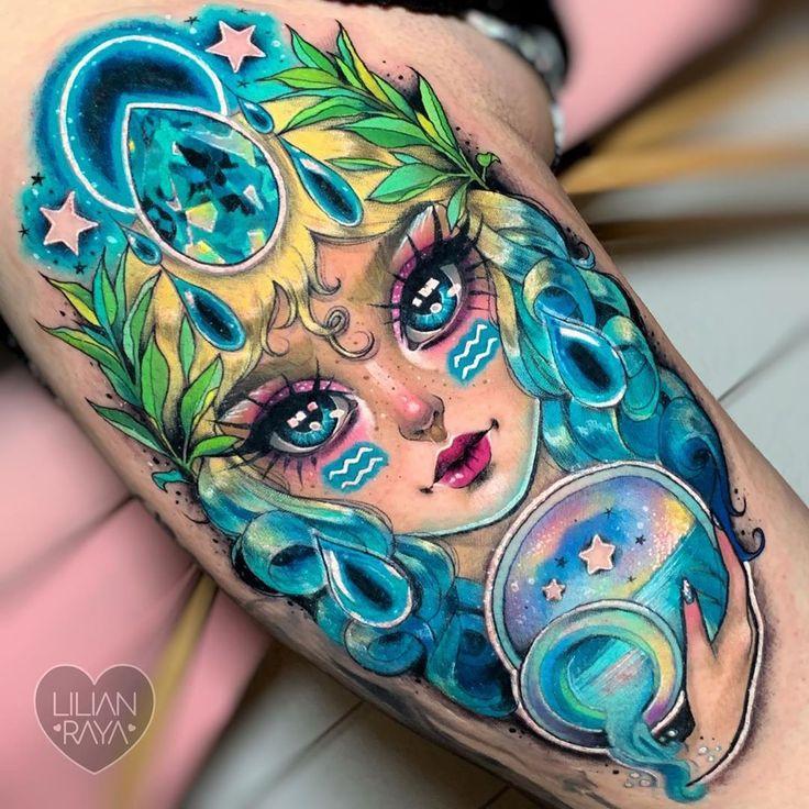 11 aquarius tattoo ideas to celebrate the sign of the