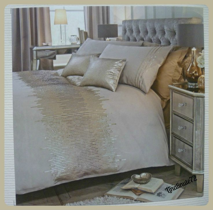 Clearance Bnip Next Gold Ombre Sequin King Size Bed Set